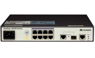 HUAWEI/华为S2700-9TP-SI-AC交换机 8口二层网管网络交换机 1千兆光口