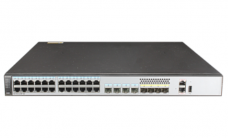 华为(HUAWEI)S5720-28P-SI-AC交换机 24个千兆以太网端口,4个复用SFP千兆,4个千兆SFP