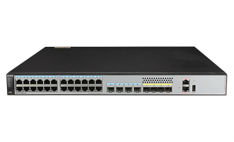 华为(HUAWEI)S5720-28X-PWR-SI-AC交换机 24个千兆以太网端口,4个复用千兆Combo SFP,4个万兆SFP+