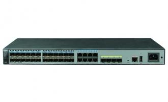 华为(HUAWEI)S5720S-28X-LI-24S-AC交换机(24个千兆SFP,8个复用的千兆千兆以太网端口Combo,4个万兆SFP+,交流供电,前维护)