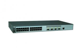 华为(HUAWEI)S5720S-28P-LI-AC交换机(24个10/100/1000Base-T以太网端口,4个千兆SFP,交流供电)