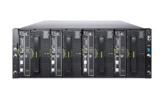 华为(HUAWEI)FusionCube 6000超融合服务器X6800(3*XH628 V3,6*E5-2630 V3,24*16G,3*32G,4*600G,2*300G,18*2T,3*600G,6*10GE,3*3008,1*SMM,4*1200W,滑轨)
