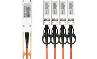 华为(HUAWEI)QSFP-4SFP10-AOC10M有源高速线缆(可用于传输或堆叠)
