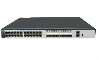 华为S5730S-48C-EI-AC交换机(24个千兆以太网端口,8个万兆SFP+,单子卡槽位,含1个150W交流电源)