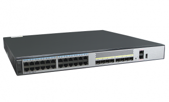 华为交换机S5730S-48C-PWR-EI-AC(24个千兆以太网端口,8个万兆SFP+,单子卡槽位,PoE+,含500W电源)POE供电