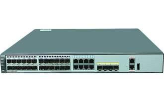 华为S5721-28X-SI-24S-AC交换机 (24个千兆SFP,8个复用的千兆以太网端口Combo,4个万兆SFP+,交流供电)