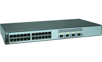 华为(Huawei)S1720-28GWR-PWR-4X交换机(24个10/100/1000Base-T以太网端口,4个万兆SFP+,PoE+,370W POE交流供电)