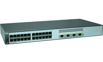 华为(Huawei)S1720-28GWR-4X交换机(24个10/100/1000Base-T以太网端口,4个万兆SFP+,交流供电)