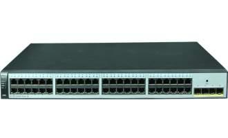 华为(Huawei)S1720-52GWR-4X交换机(48个10/100/1000Base-T以太网端口,4个万兆SFP+,交流供电)