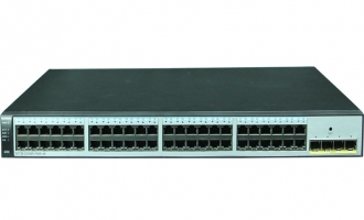 华为(Huawei)S1720-52GWR-PWR-4X交换机(48个10/100/1000Base-T以太网端口,4个万兆SFP+,PoE+,370W POE交流供电)