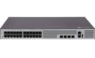 华为S5735S-L24FT4S-A交换机(12个10/100Base-Tx以太网端口,12个10/100/1000Base-T以太网端口,4个千兆SFP,交流供电)