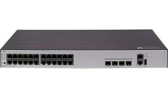 华为S5735-L24P4X-A交换机(24个10/100/1000BASE-T以太网端口,4个万兆SFP+,PoE+,交流供电)