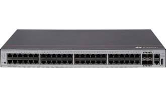 华为S5735S-L48FT4S-A交换机(24个10/100Base-Tx以太网端口,24个10/100/1000Base-T以太网端口,4个千兆SFP,交流供电)