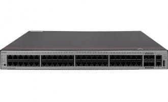 华为S5735S-L48P4X-A交换机(48个10/100/1000BASE-T以太网端口,4个万兆SFP+,PoE+,含1个1000W交流电源)