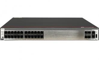 华为S5731S-H24T4X-A交换机(24个10/100/1000BASE-T以太网端口,4个万兆SFP+,含1个150W交流电源)