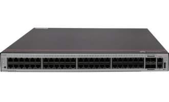 华为S5735-S48P4X交换机(48个10/100/1000BASE-T以太网端口,4个万兆SFP+,PoE+,含1个AC电源)