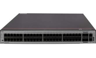 华为S5735S-S48T4X-A交换机(48个10/100/1000BASE-T以太网端口,4个万兆SFP+,含1个60W交流电源)
