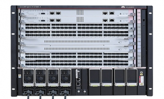 华为CloudEngine S12700E-4交换机 (含总装机箱*1, MPUE主控板*1,SFUE交换网*1, 48X10G光(X6S,SFP+)*1,3000W AC电源*1)