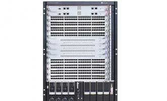 华为CloudEngine S12700E-8交换机 (含总装机箱*1, MPUE主控板*1,SFUE交换网*1,48X10G光(X6S,SFP+)*2,3000W AC电源*1)