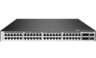 华为CloudEngine S5732-H48UM2CC交换机(48个100M/1G/2.5G/5G/10G Base-T以太网端口,4个25GE SFP28 + 2个40GE QSFP+或2个100GE QSFP28)