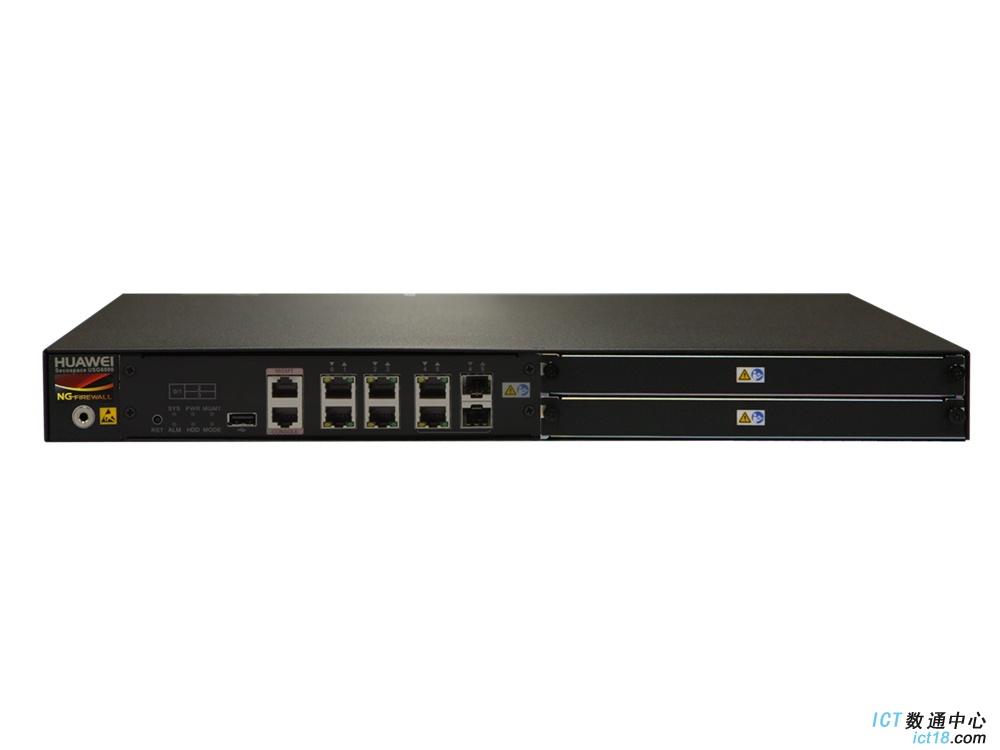 华为USG6308-BDL-AC防火墙 (4GE电+2GE Combo,4GB内存,含IPS-AV-URL功能集升级服务时间12个月,含SSL VPN 100用户)