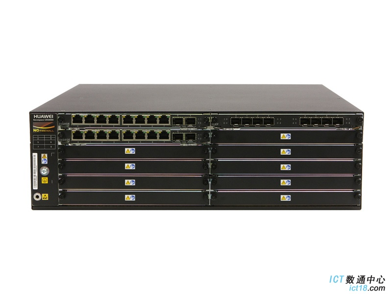 华为(HUAWEI)USG6670下一代防火墙(16GE电+8GE光+4*10GE光,16GB内存,2交流电源,含SSL VPN 100用户)