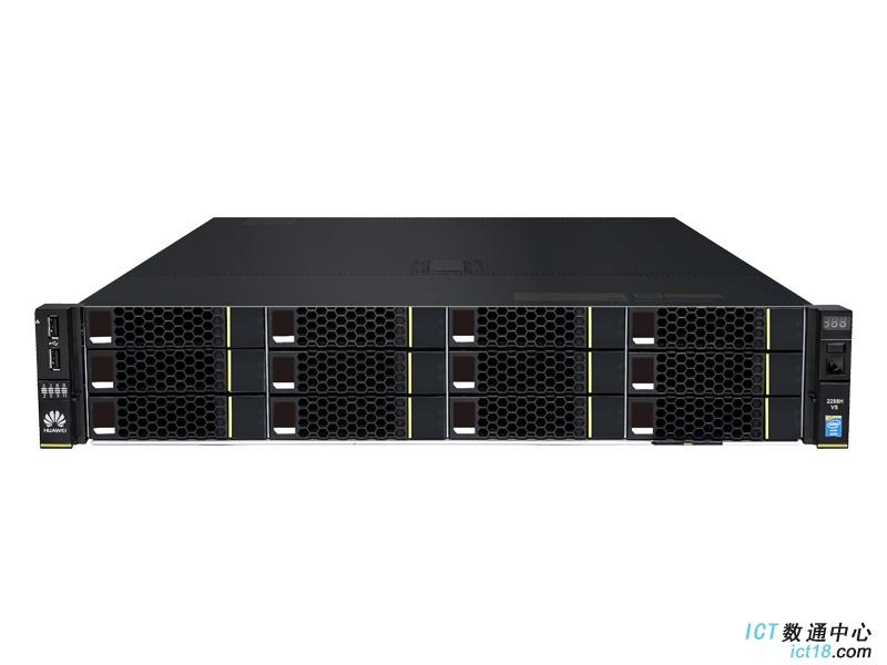 """华为(HUAWEI)2288H V5服务器(12*3.5""""盘位机型)典配(1*3106 CPU,1*16GB DDR4内存,无RAID卡,无硬盘,2*GE+2*10GE(不含光模块),1*550W电源,无DVD,滑轨)"""