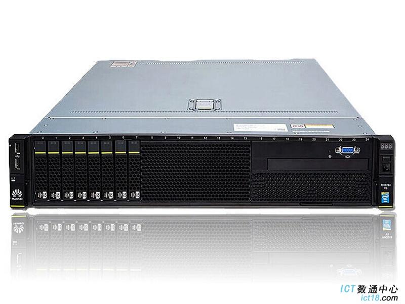 """华为(HUAWEI)2288H V5服务器(8*2.5""""盘位机型)典配(1*3106 CPU,1*16GB DDR4内存,无RAID卡,无硬盘,2*GE+2*10GE(不含光模块),1*550W电源,无DVD,滑轨)"""