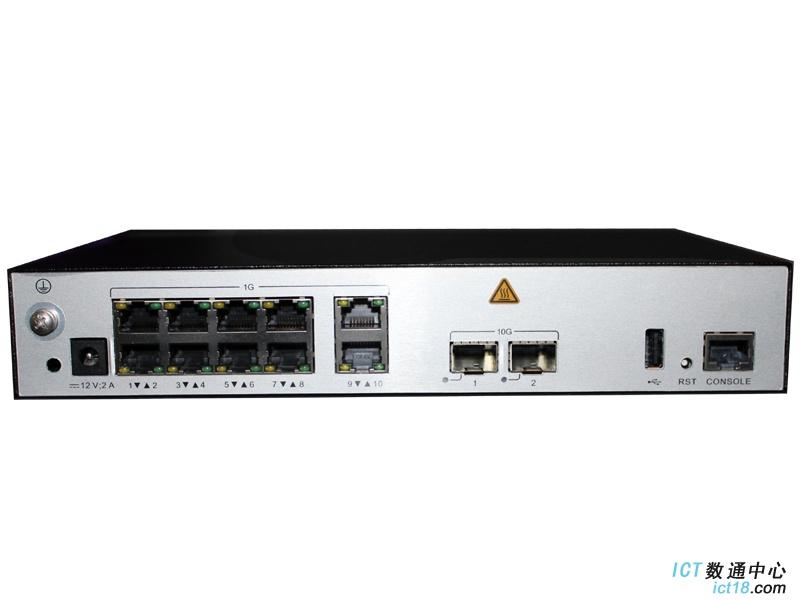华为AC6507S接入控制器(10个千兆以太口,2个万兆SFP+,含AC/DC 电源适配器)  AC控制器