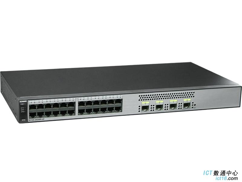 华为(Huawei)S1720-28GWR-4P交换机(24个10/100/1000Base-T以太网端口,4个千兆SFP,交流供电)