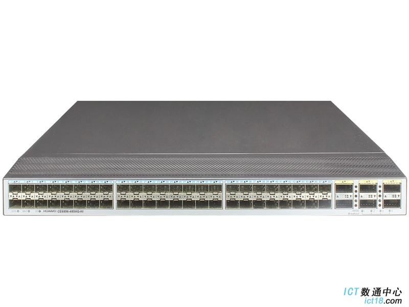华为CE6856-48S6Q-HI数据中心交换机(48*万兆SFP+,6*40G QSFP+,2*交流电源,端口侧出风)