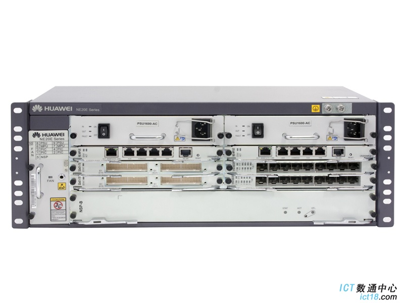 华为NE20E-S4路由器交流基本配置(含NE20E-S4机箱/双主控/双交流电源/电源线,不含软件费用和资料)