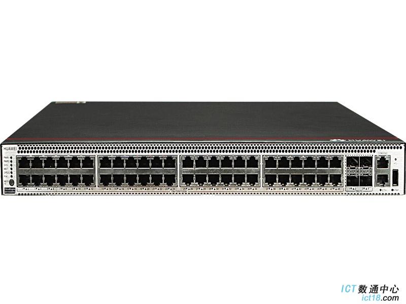 华为S5731-S48P4X交换机(48个10/100/1000BASE-T以太网端口,4个万兆SFP+,PoE+,不含电源)