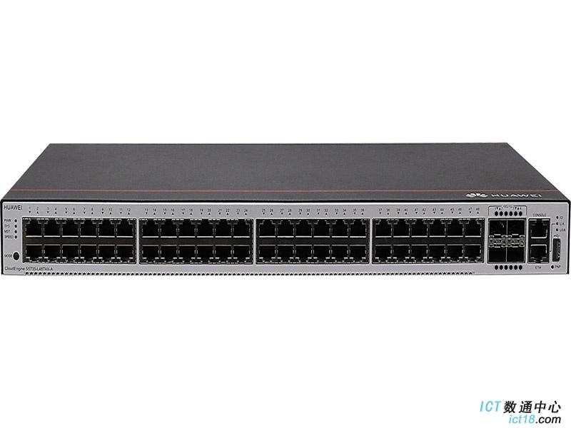 华为S5735S-L48T4X-A交换机(48个10/100/1000BASE-T以太网端口,4个万兆SFP+,交流供电)