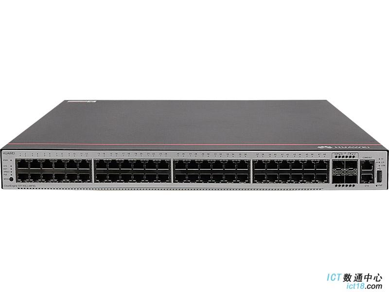 华为S5735S-L48P4S-A交换机(48个10/100/1000BASE-T以太网端口,4个千兆SFP,PoE+,含1个1000W交流电源)