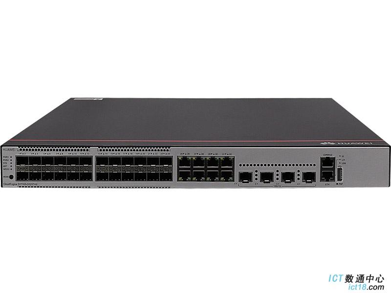 华为S5735S-L32ST4X-A交换机(24个千兆SFP,8个10/100/1000BASE-T以太网端口,4个万兆SFP+,交流供电)